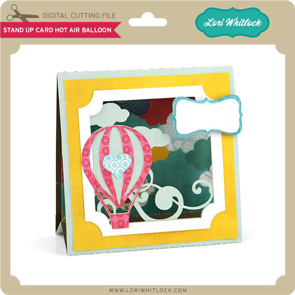 Stand Up Card Hot Air Balloon