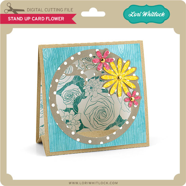 Stand Up Card Flower
