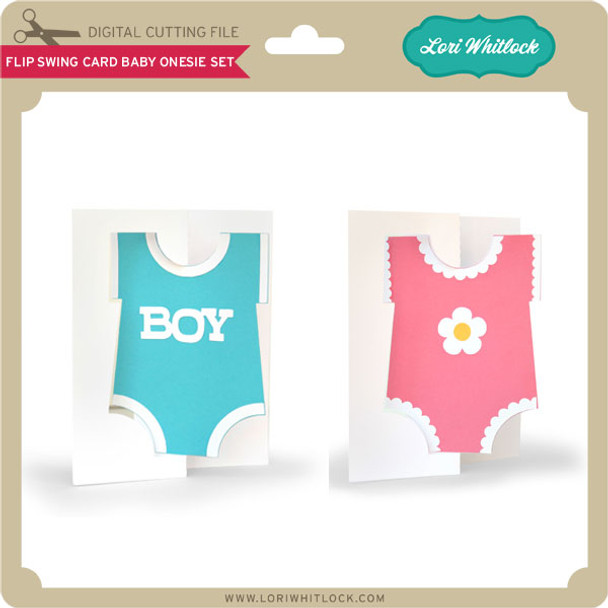 Flip Swing Card Baby Onesie Set