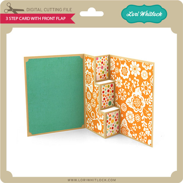 3 Step Card with Front Flap