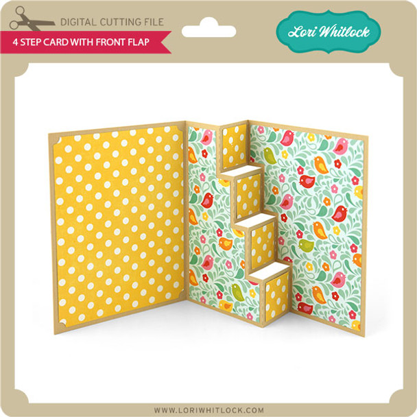 4 Step Card with Front Flap
