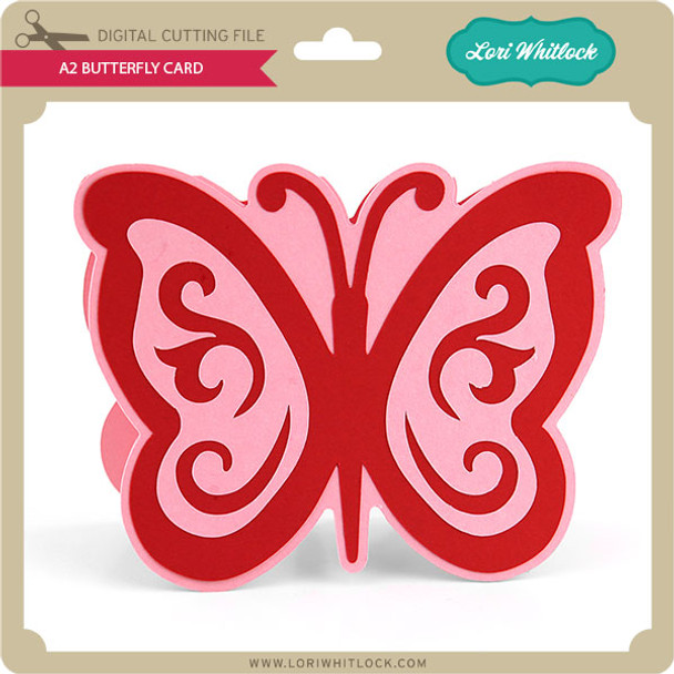 A2 Butterfly Card