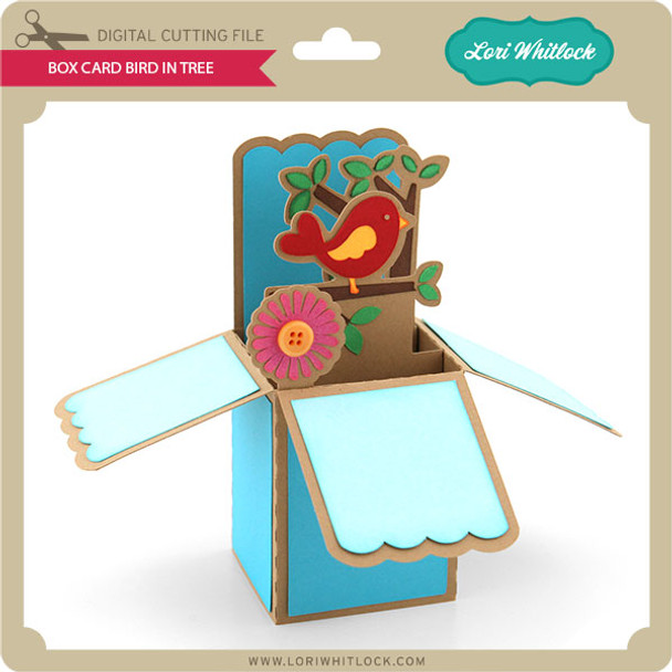 Box Card Bird in A Tree