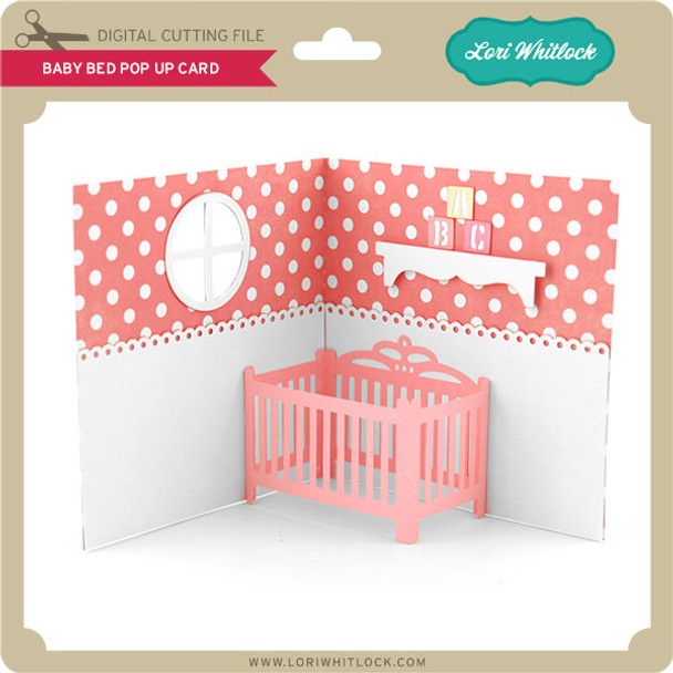 Baby Bed Pop Up Card