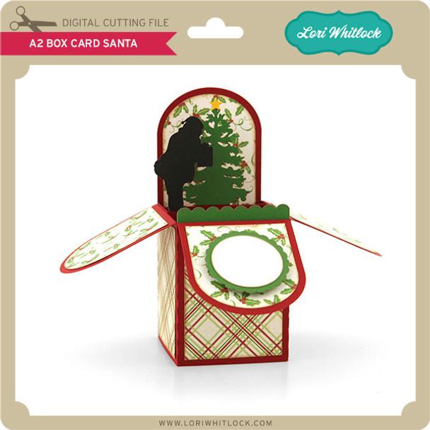 A2 Box Card Santa