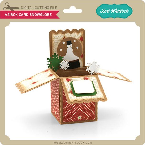A2 Box Card Snowglobe