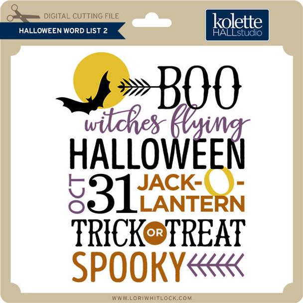 Halloween Word List