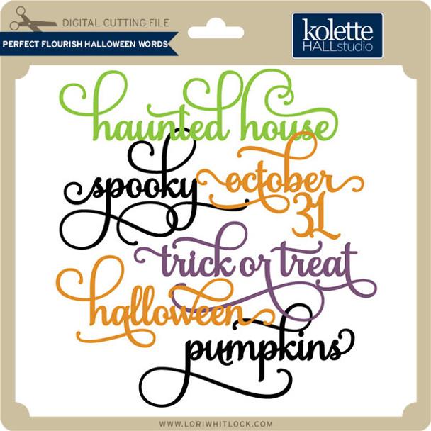 Perfect Flourish Halloween Words