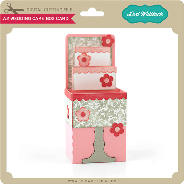 A2 Wedding Cake Box Card