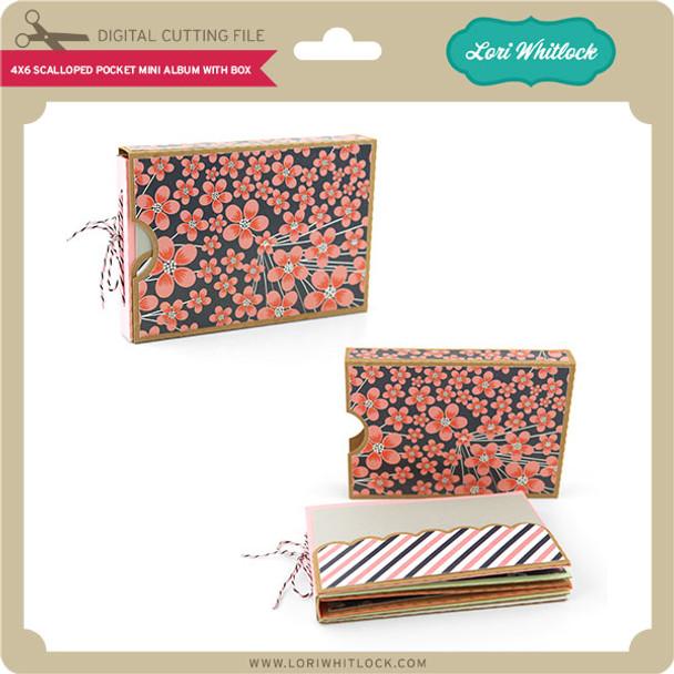 4x6 Scalloped Pocket Mini Album with Box