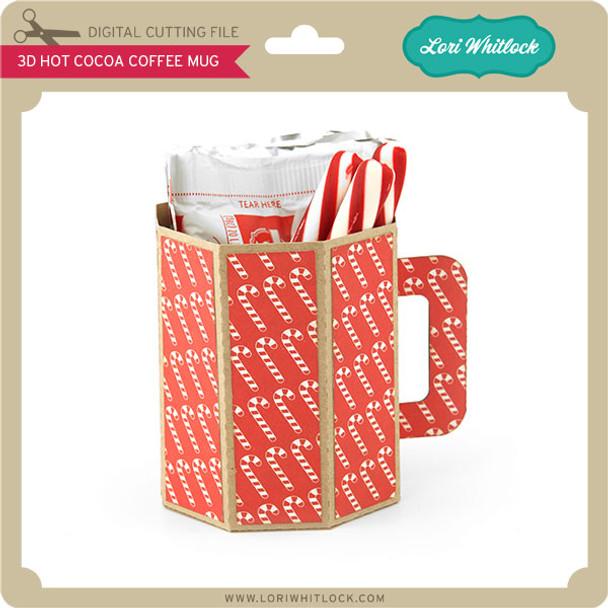 3D Hot Cocoa Coffee Mug