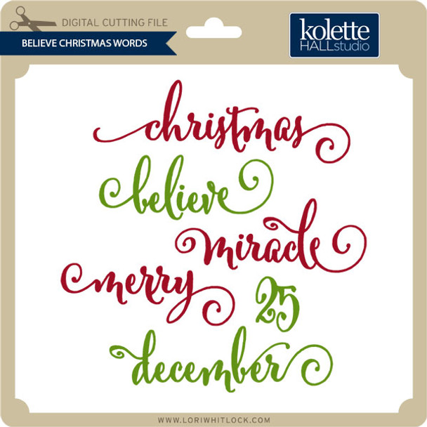 Believe Christmas Words