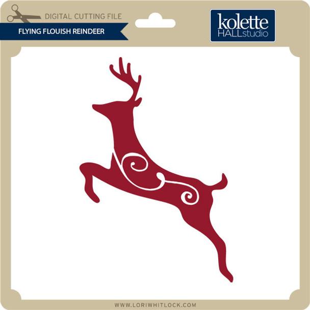 Flying Flourish Reindeer