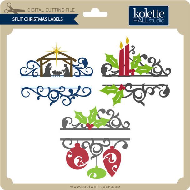 Split Christmas Labels