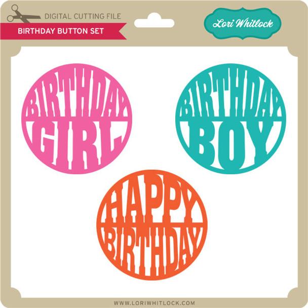 Birthday Button Set