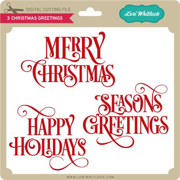 3 Christmas Greetings