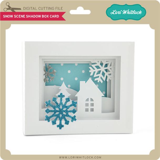 5x7 Snow Scene Shadow Box Card