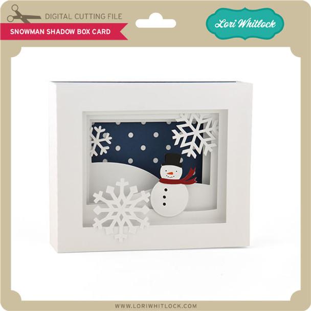 5x7 Snowman Shadow Box Card
