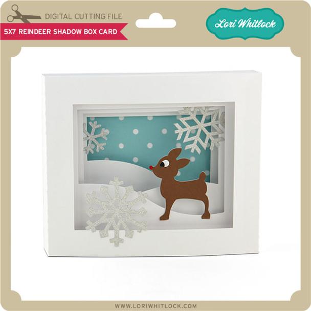 5x7 Reindeer Shadow Box Card