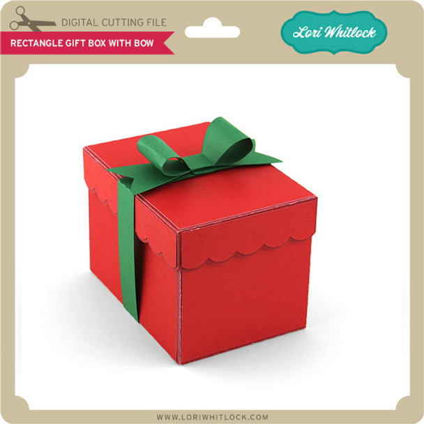Rectangle Gift Box With Bow