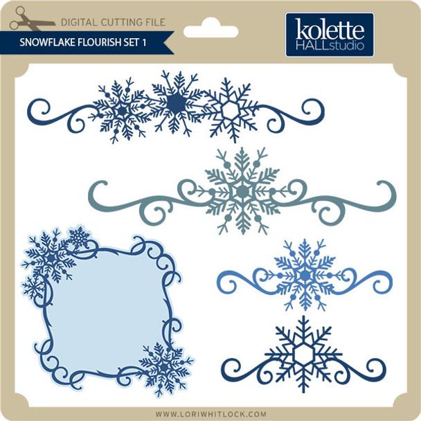Snowflake Flourish Set 1