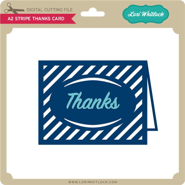 A2 Stripe Thanks Card