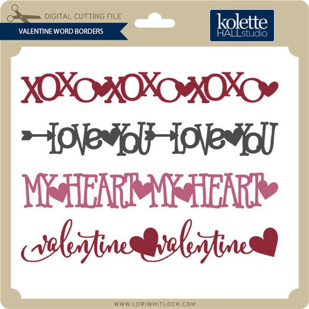 Valentine Word Borders
