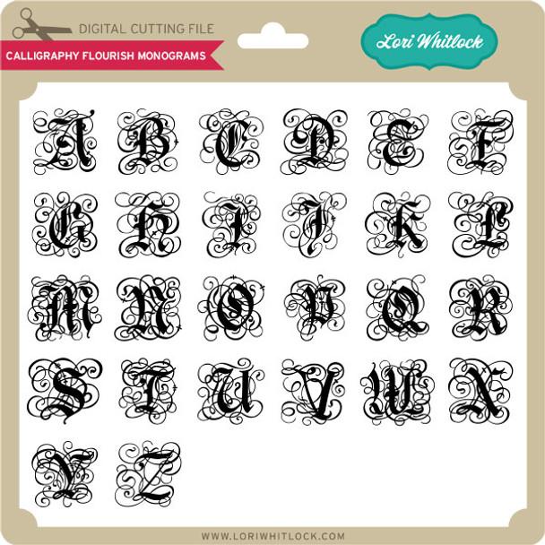 Calligraphy Flourish Monograms