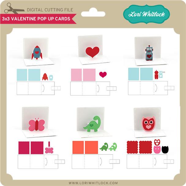 3x3 Valentine Pop Up Cards