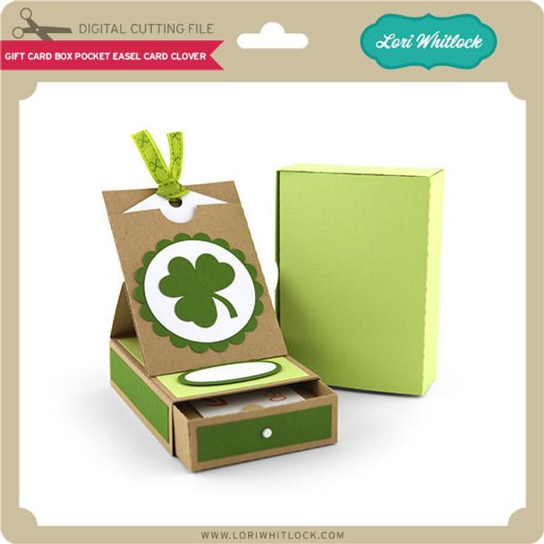 Gift Card Box Pocket Easel Card Clover