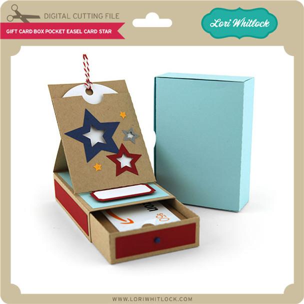 Gift Card Box Pocket Easel Card Star