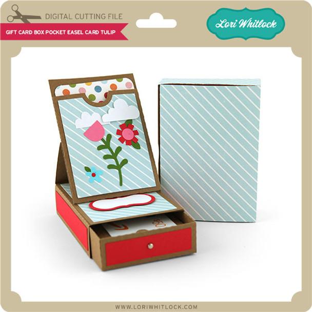 Gift Card Box Pocket Easel Card Tulip