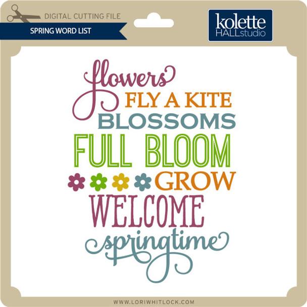 Spring Word List