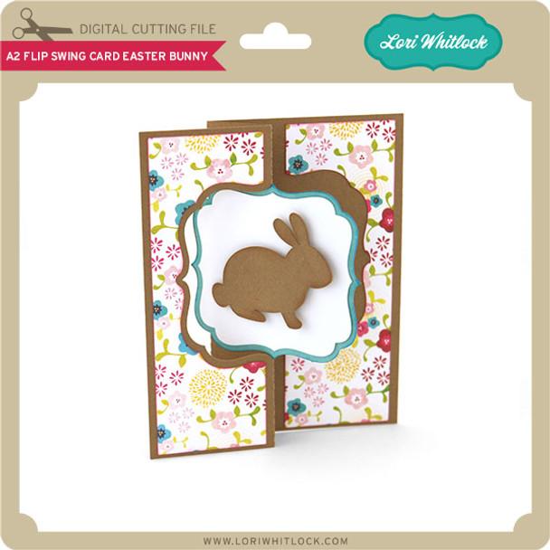 A2 Flip Swing Card Easter Bunny