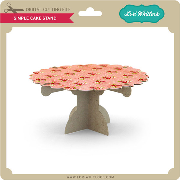 3D Simple Cake Stand