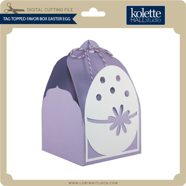 Tag Topped Favor Box Easter Egg