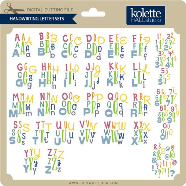 Handwriting Letter Sets