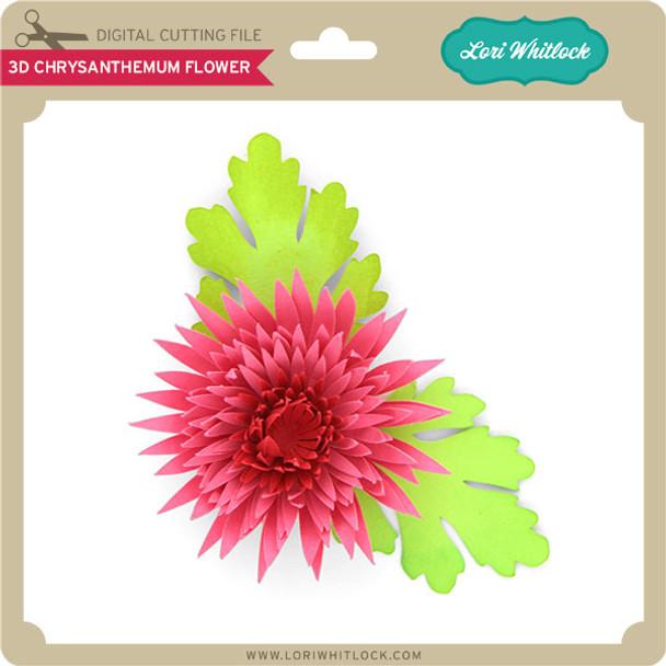 3D Chrysanthemum Flower