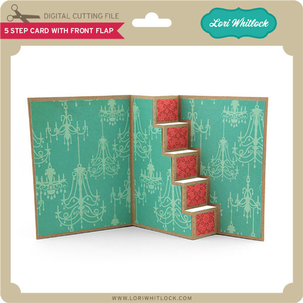 5 Step Card With Front Flap