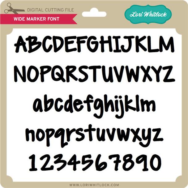 Wide Marker Font