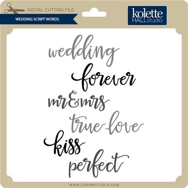 Wedding Script Words
