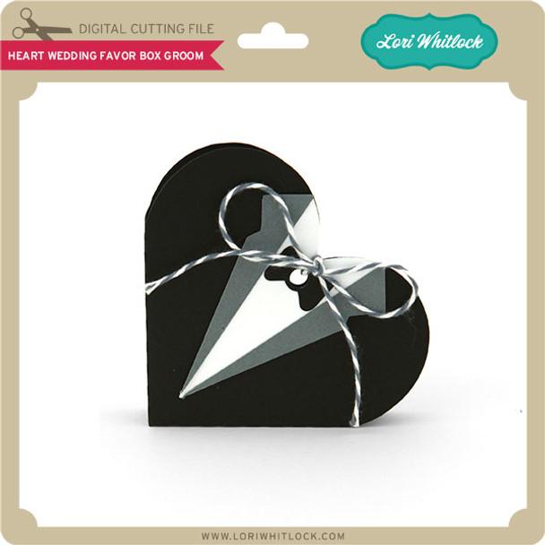 Heart Wedding Favor Box Groom