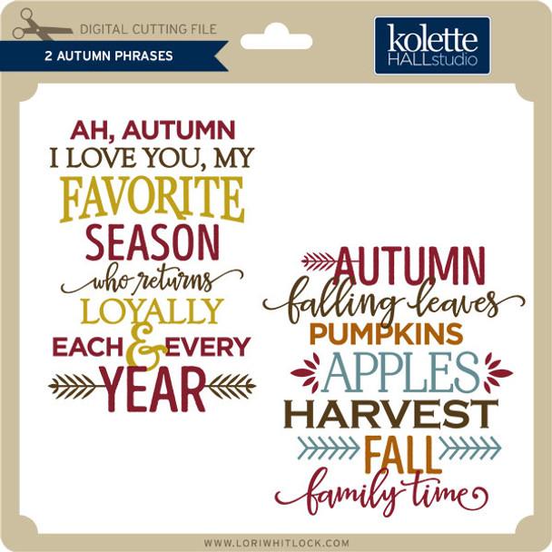 2 Autumn Phrases