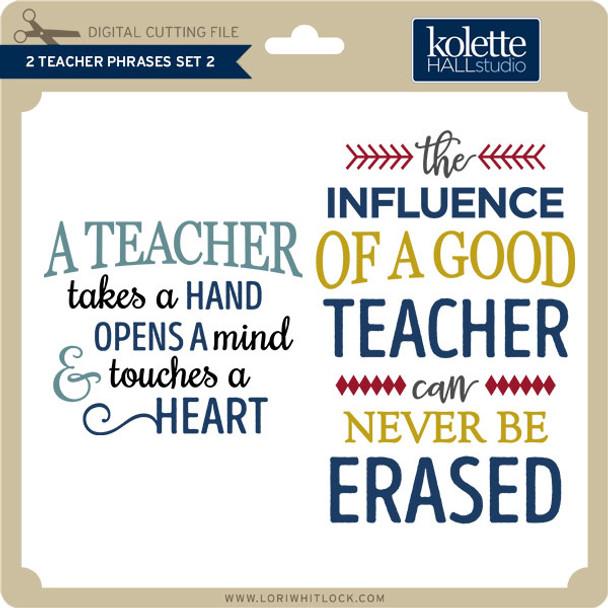 2 Teacher Phrases Set 2
