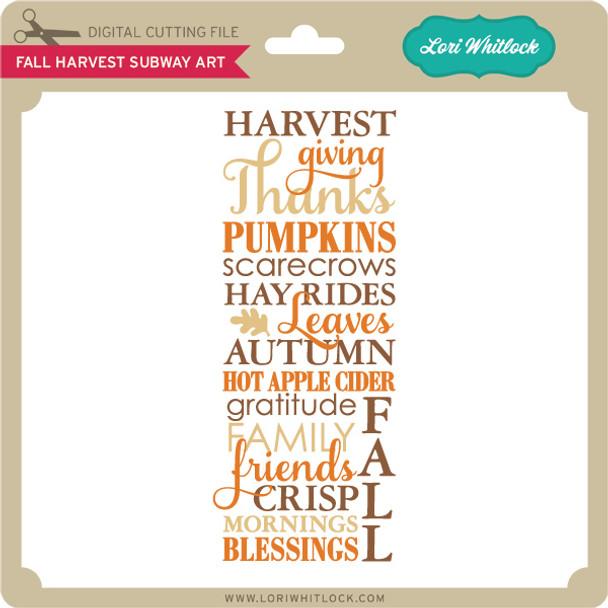 Fall Harvest Subway Art