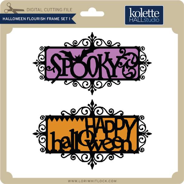 Halloween Flourish Frame Set 1