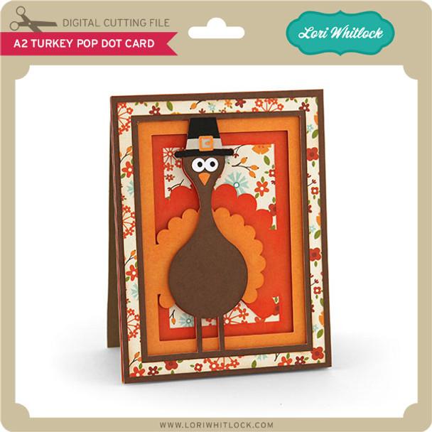 A2 Turkey Pop Dot Card