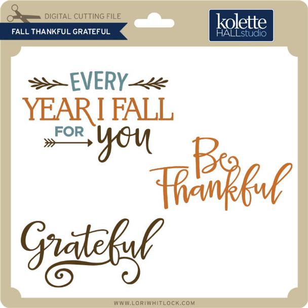 Fall Thankful Grateful