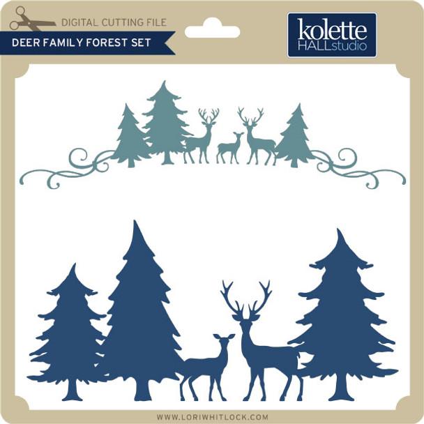 Deer Family Forest Set