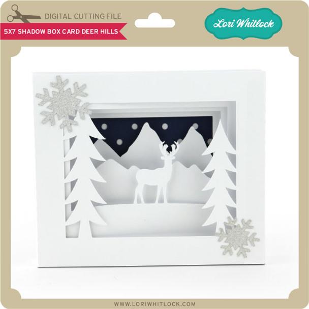 5x7 Shadow Box Card Deer Hills